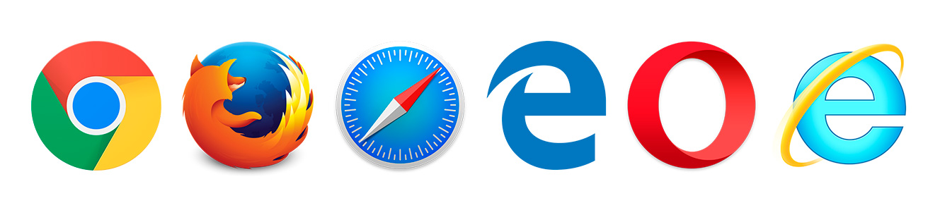 The most popular web browsers