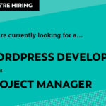 We're recruiting for two more roles